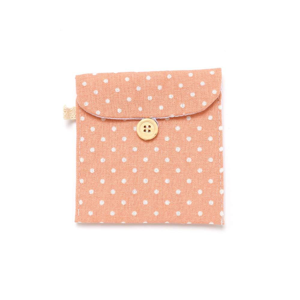 1x Sanitär Pad Halter Tasche Tampon Handtuch Serviette Tasche Tasche Taschentuch Organizer Pink Lyanther