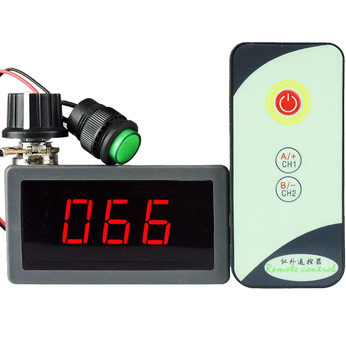 Black CCM5D Meimotong electronic Ltd uniquegoods 6V 12V 24V Digital Display LED DC Motor Speed Controller PWM Stepless Speed Control Switch HHO Driver