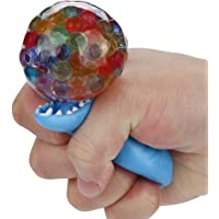 Cooljun Dinosaure Spongy Rainbow Ball Jouet Squeezable Stress Squishy Balle de soulagement de Stress Le Plaisir (Bleu)