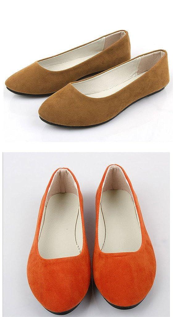 FUNOC Damen Frauen Frauen Frauen Flache Schuhe Flach Ballerinas Pumps Slipper 1d6b08