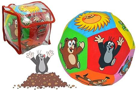 Topo textil Ball con cascabel Niños Niño Niña Bebé Toy Poly ...