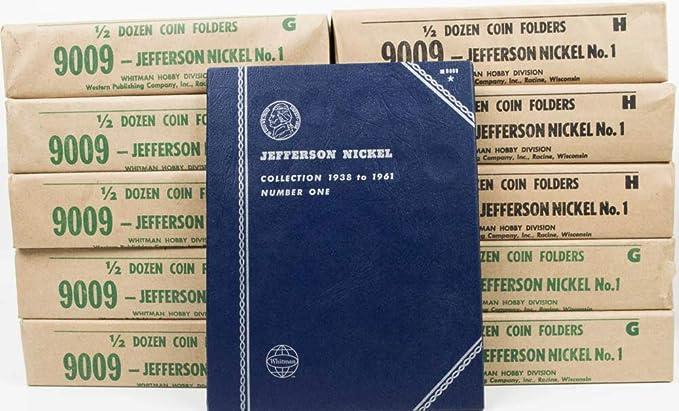 WHITMAN COIN FOLDER # 9009 JEFFERSON NICKELS
