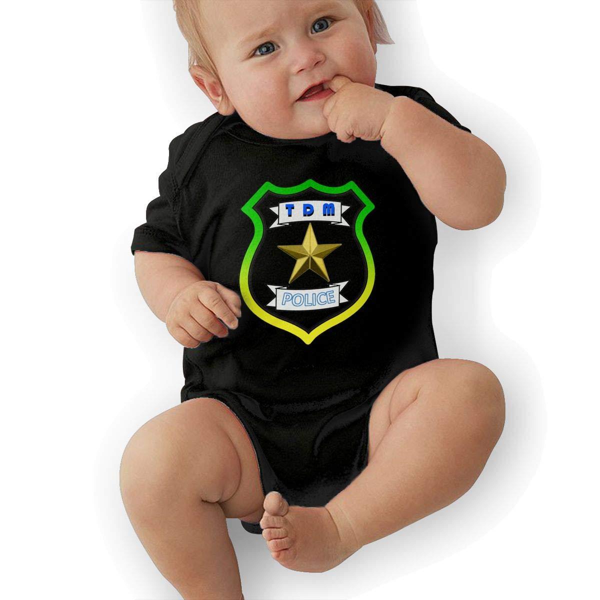 3DmaxTees TDM Police Short Sleeve Nursling Jumpsuit Cute Romper Summer Bodysuits