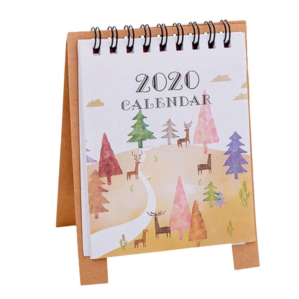 Cute Christmas December Calendar 2020 Amazon.com: Hsada_Home Storage HSada Desk Monthly Calendar Jan