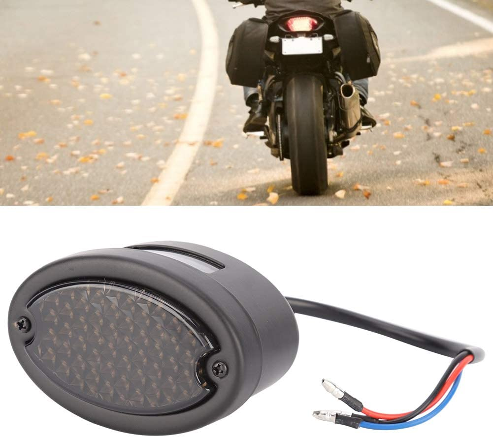 Feu stop plaque dimmatriculation de frein lentille fum/ée Qii lu Feu arri/ère moto r/étro LED