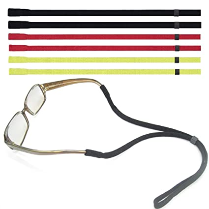 32abc12aa48 Adjustable Eyewear Retainer TESHIUCK 6 Pack Sunglasses Holder Straps Safety sunglass  Eyeglasses Neck Cord String Rope