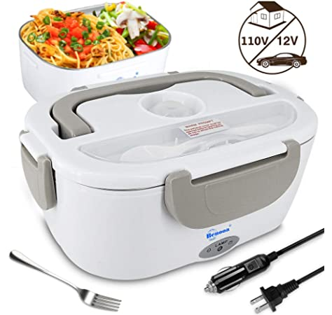 Electric12V Lunch Box Food Warmer Heater Container Portable Heating Hot Meal Car