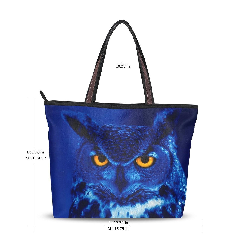 WHBAG New Design Handbag For Women,Cartoon Art Owl,Shoulder Bags Tote Bag