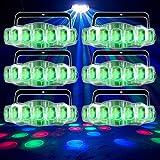 (6) American DJ ADJ Jellyfish IR RGBW DMX Dance Floor Moonflower Effect Lights