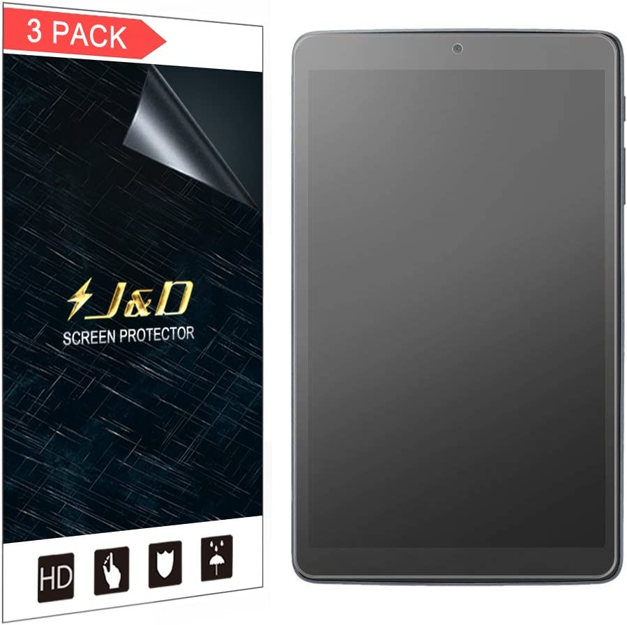 J&D Compatible for Alcatel A30 Tablet 8 inch Screen Protector (3-Pack), Not Full Coverage, Anti-Glare Matte Film Shield Screen Protector for Alcatel A30 Tablet 8 inch Matte Screen Protector