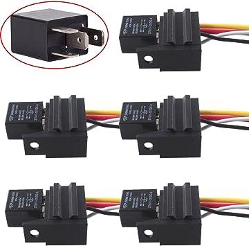 ESUPPORT Car Relay 12v 30a Spst 4pin Socket