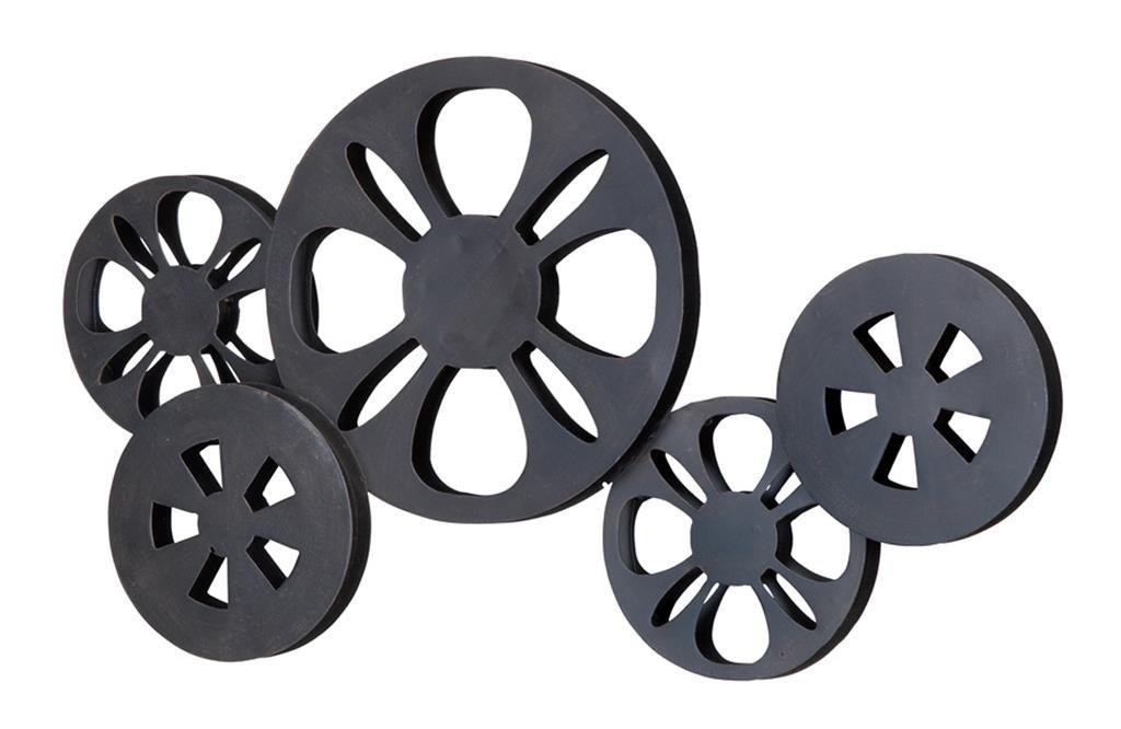Deco 79 51613 Metal Movie Reel, 23'' x 12''