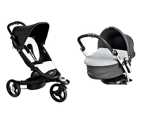 Recaro 5801.21120.66 Bundle - Carrito convertible con silla y capazo, color negro