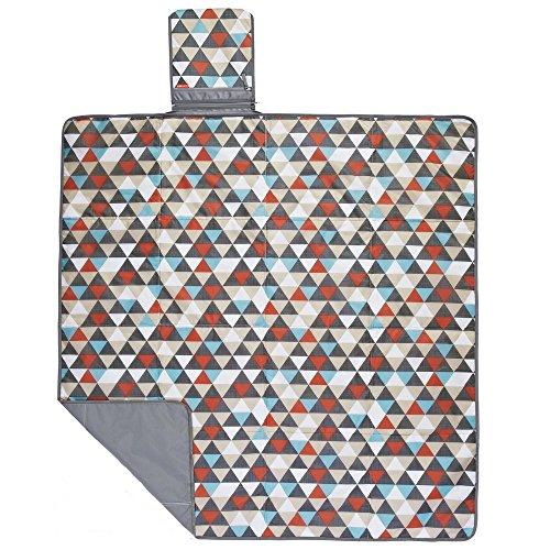 Skip Hop Baby Infant & Toddler Central Park Waterproof Convertible Outdoor Blanket & Detachable Cooler Bag, Multi Triangles by Skip Hop (Image #3)
