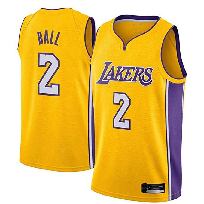 newest collection 40c86 56309 Amazon.com: Men's #2_Lonzo_Ball_Los Angeles_Lakers_Yellow ...