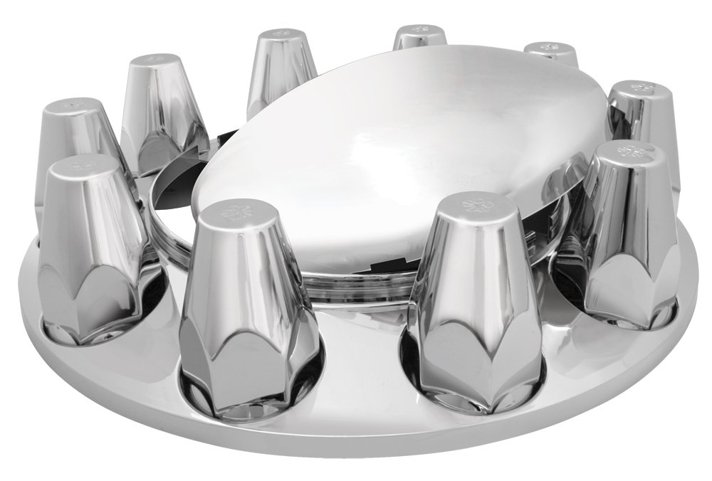 Grand General 40134 Chrome ABS Front Axle Cover with 33mm Screw-In Nut Cover