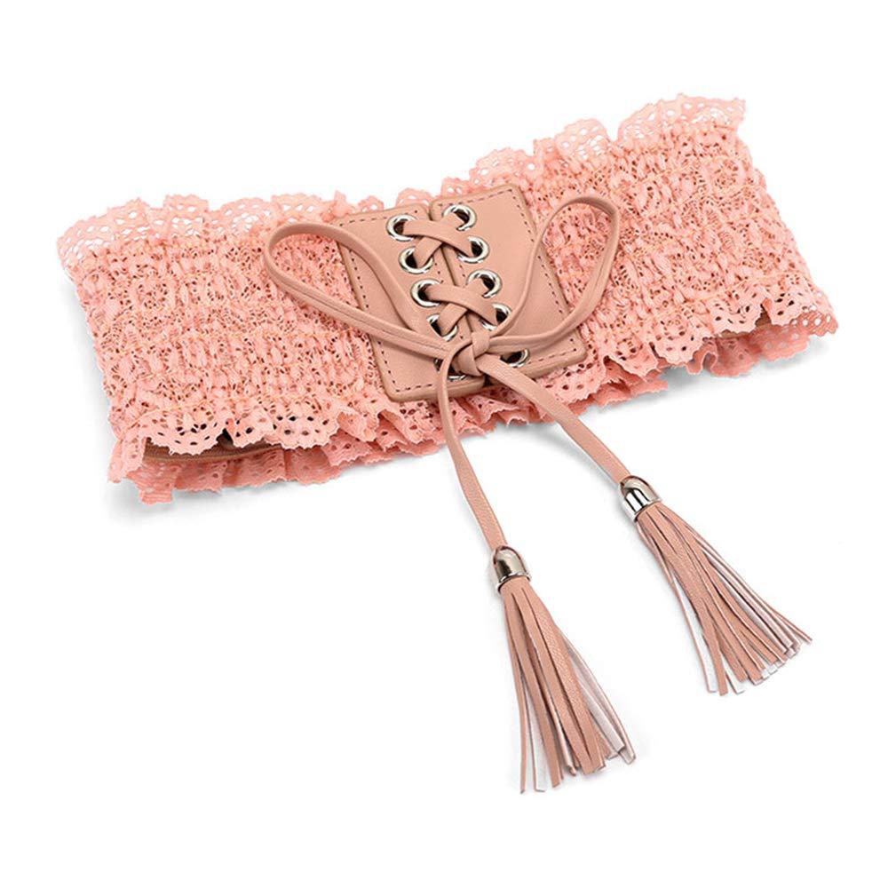 Lace Stretch Cinch Belts High Waist Belt Women Vintage Wide Lace-up Elastic Waistband