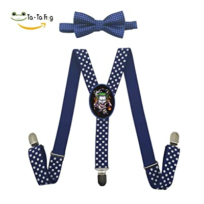 Grrry Kids Angry Clown Adjustable Y-Back Suspender+Bow Tie
