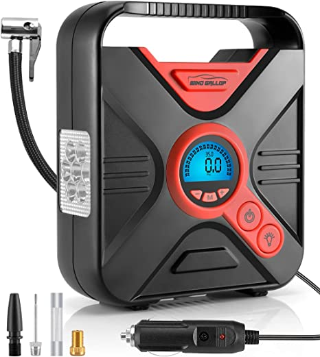 12V 100PSI Auto LED Elektrisch Luftpumpe Kompressor Luftkompressor Autoreifen DE