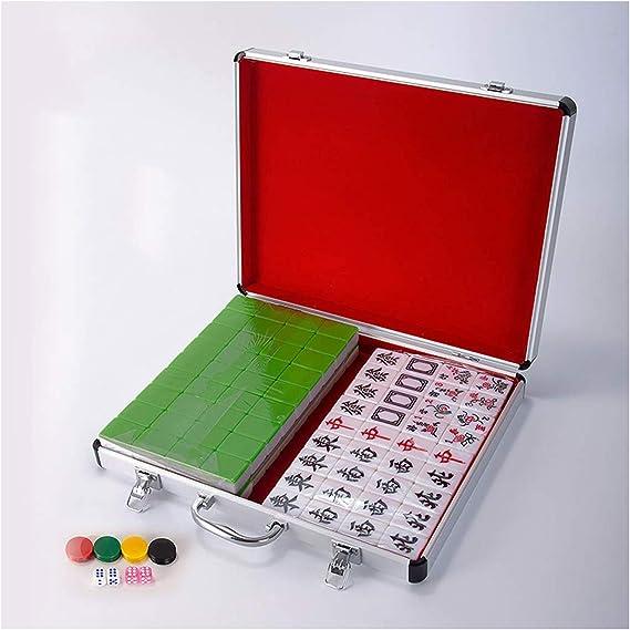 FLAMEER Kunststoff Mayong Mahjongg Mah-Jongg Mahjong Set