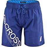 Mens Crosshatch Pacific Designer Mesh Lined Swimming Shorts