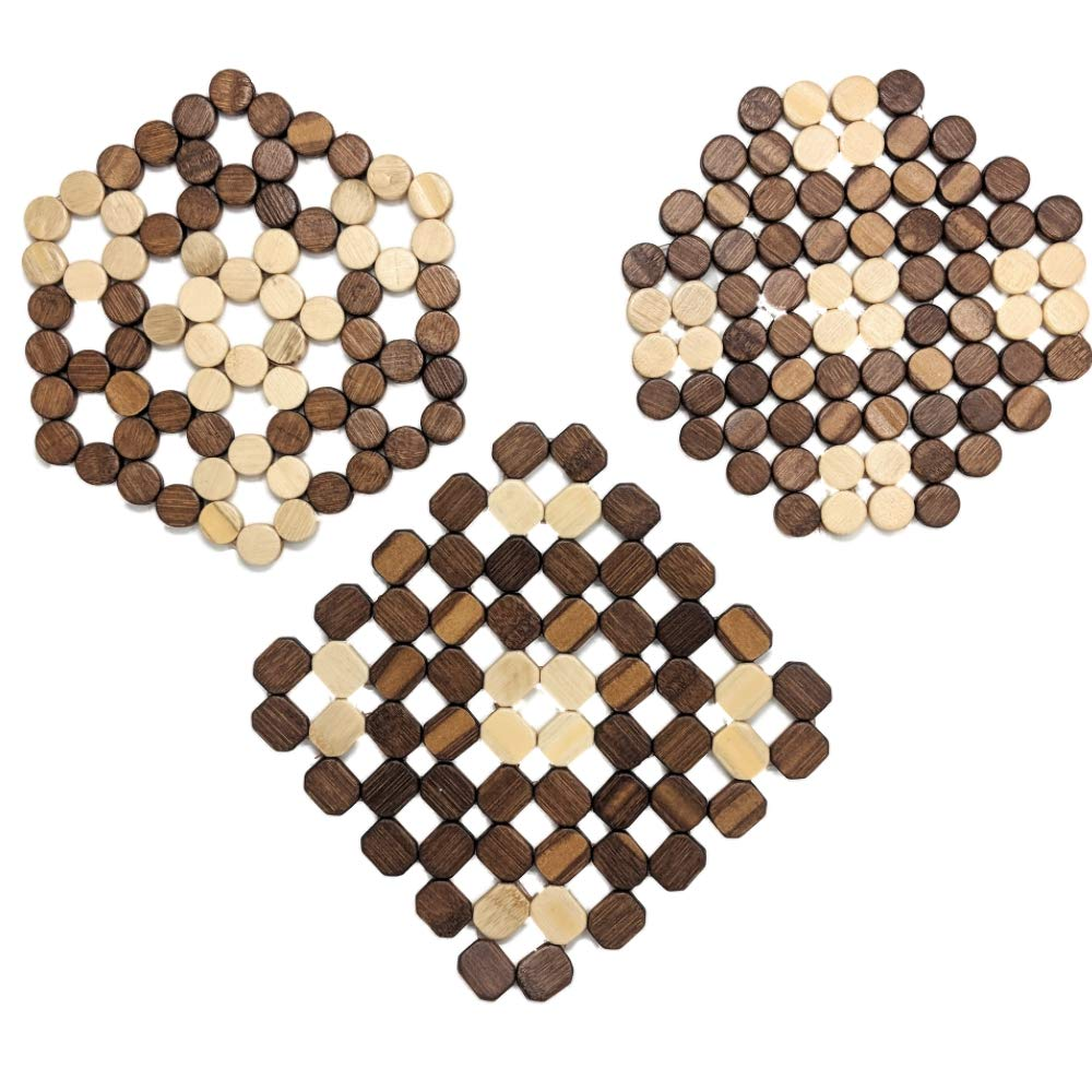 Bamboo Trivets A Set Of 3 By TOFL (3, 60 rectangle)
