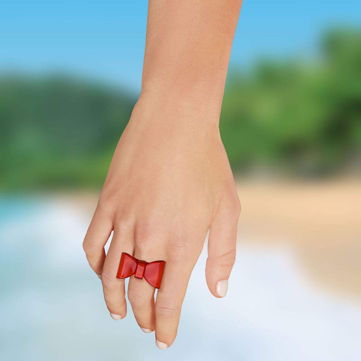 SoulCats/® 1 Ring Schleife Schleifenring Retro Rockabilly Gothik Damenring