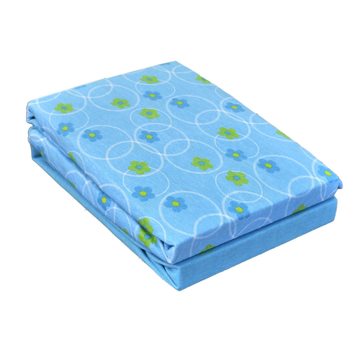 Dudu N Girlie Cotton Chicco Next2Me Crib Fitted Sheets, Flower Blue, 2-Piece Dudu N Girlie Limited 5000424212015