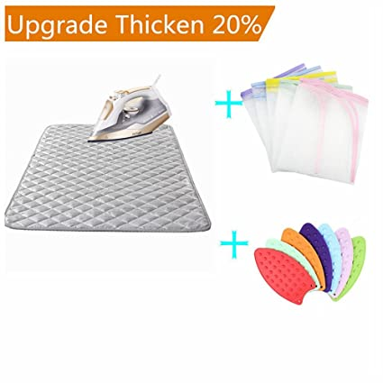 Nnty Gluck Upgraded Thick Ironing Blanket,Portable Ironing Mat With  Silicone Pad,and Press