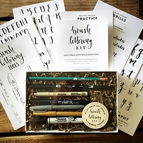 Brush Lettering Kit - DIY Brush Calligraphy Starter