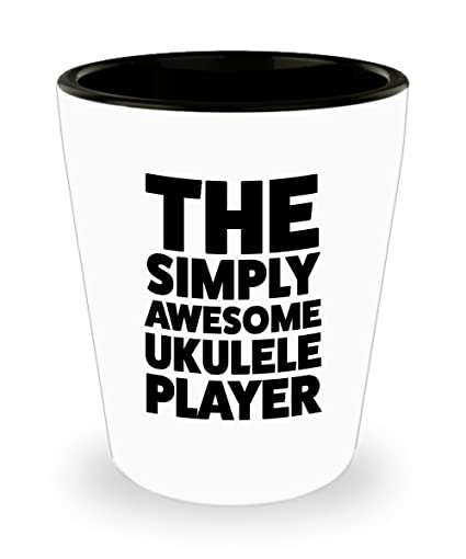Amazon Com Ukulele Player Shot Glass Fathers Day Mothers Day