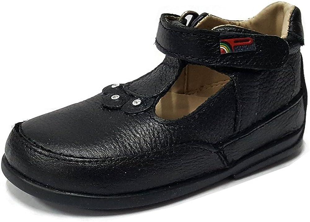 Pocholin Girls Genuine Leather Shoes Toddler//Little Kid