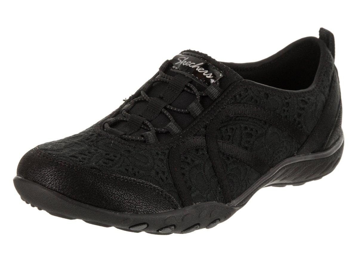 Skechers Women's Breathe Easy - Elegant Glow Slip-On Shoe B07DS329D7 7 B(M) US|Black