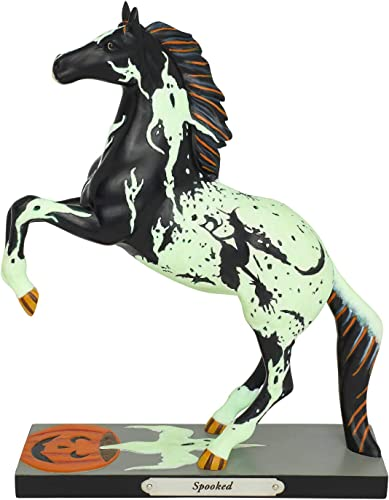 Enesco Trail of Painted Ponies Halloween Spooked Glow in The Dark Figurine, 8 Inch, Multicolor