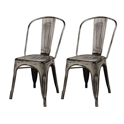 Surprising Gia Mc45K Antiwh 2 High Back Metal Chair Pack Antique White Theyellowbook Wood Chair Design Ideas Theyellowbookinfo