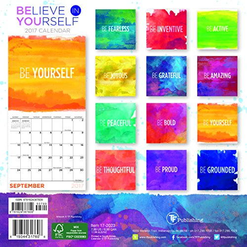 2017 Believe in Yourself Mini Calendar