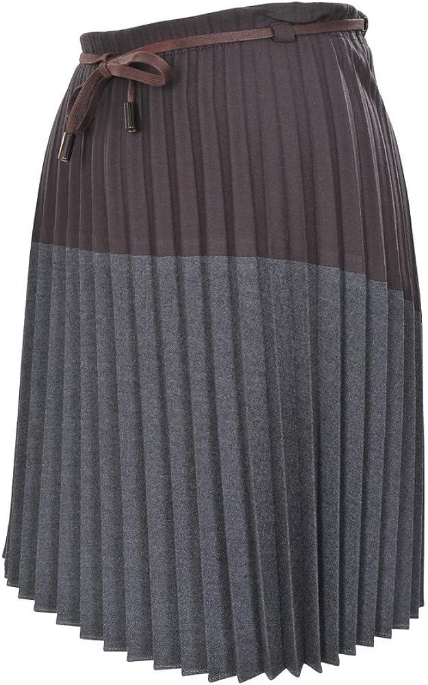 Brunello Cucinelli Falda Mujer Falda Plisada [ de Tablas] Un sólo ...