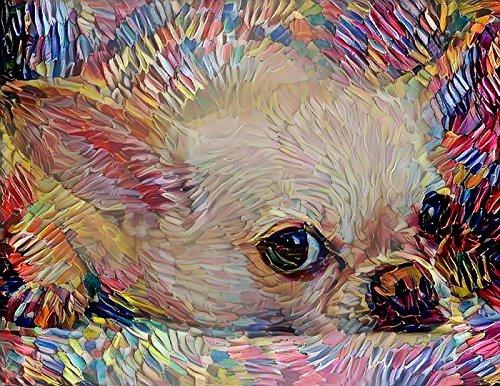 Chihuahua Art Colorful Abstract Dog Print - Pet Portrait Wall Decor Artwork 8.5 x 11