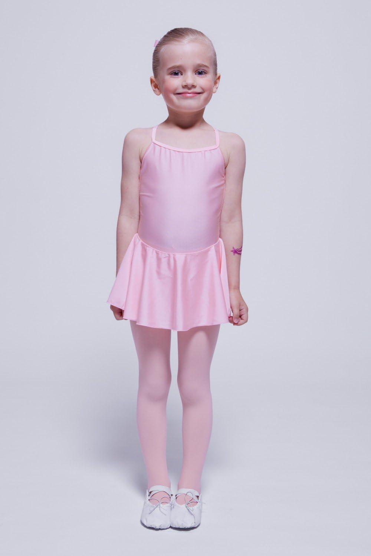 Rojo e Rosa Oscuro Nero tanzmuster Body da Danza Classica Sophie con gonnelino per Bambini in Rosa Petrol Bianco
