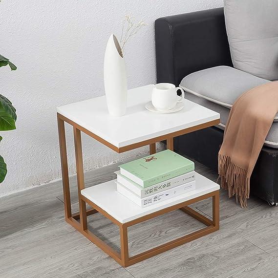 Amazon.com: Home Warehouse Mesa de sofá dorada, creativa y ...