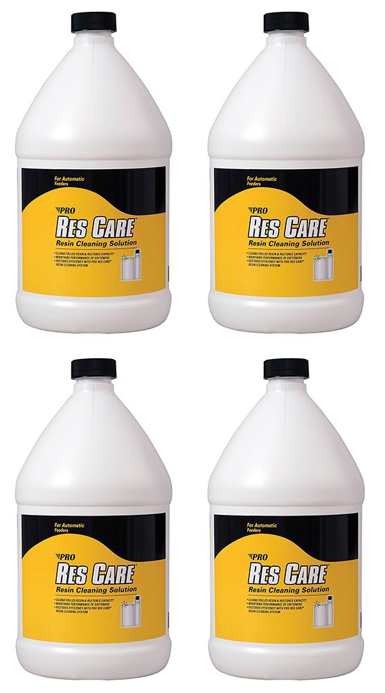 Pro Products ResCare RK41N All-Purpose FzDnT Water Softener Cleaner Liquid, 1 Gallon (4 Pack)