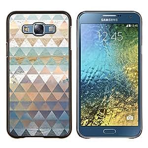 Stuss Case / Funda Carcasa protectora - Patrón Polígono trullo Naturaleza Pastel Agua - Samsung Galaxy E7 E700