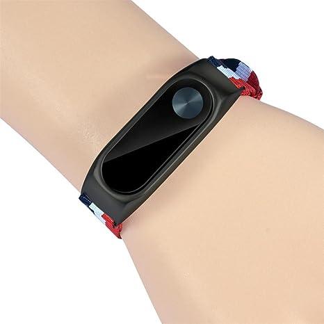 ❤️Xinan Banda de repuesto ajustable de nylon ligero Correa deportiva Para XIAOMI MI Band 2 (❤️Negro): Amazon.es: Relojes