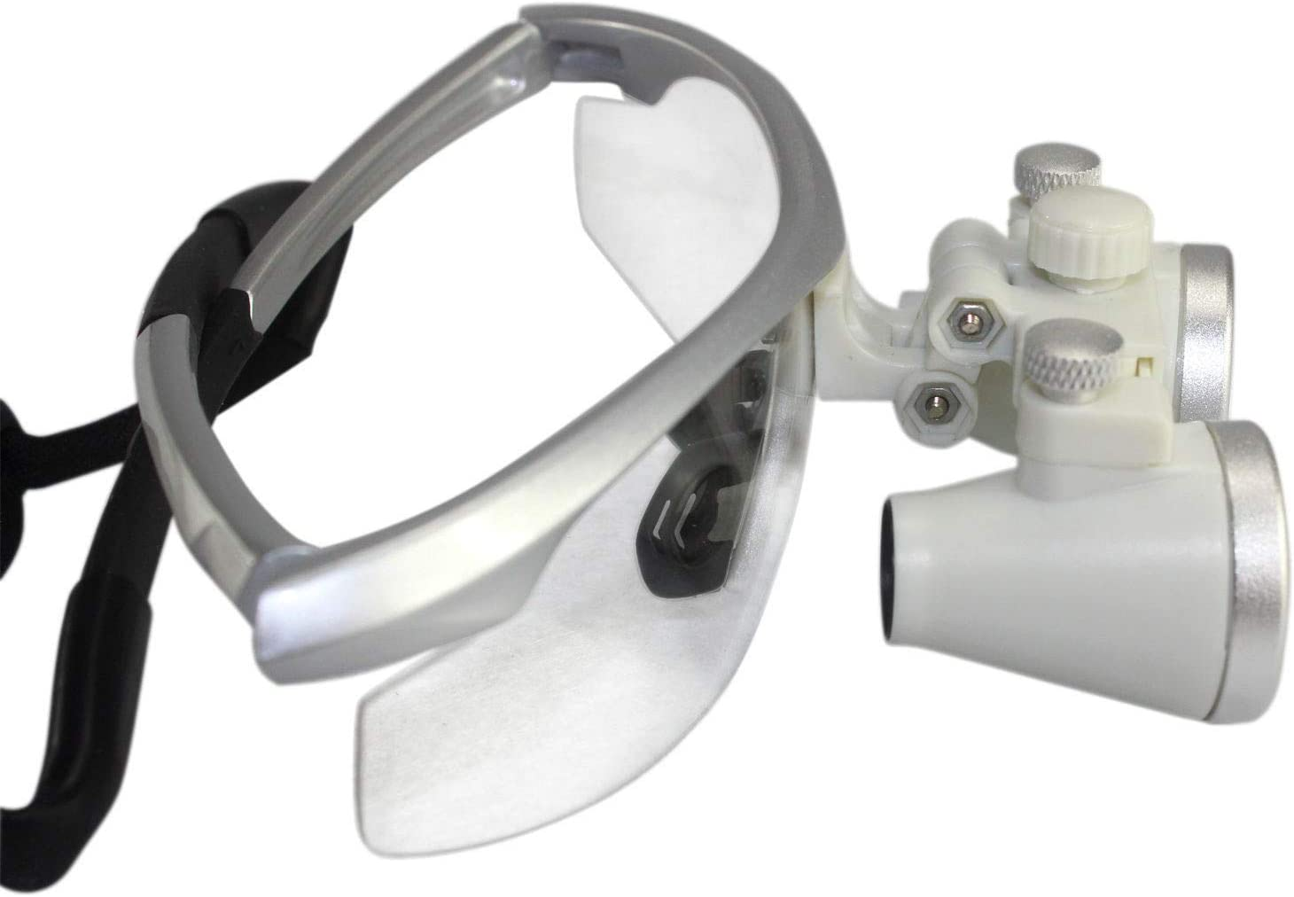 3.5X 420mm D-E-N-T-A-L Surgical Binocular Loupes LED LAB Head Light lamp Silver