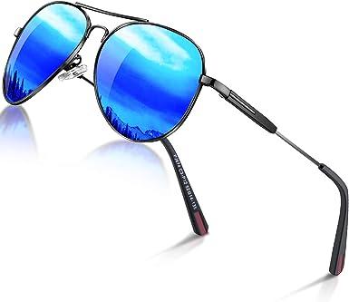 Blue Green Silver Retro Aviator Polarized Sunglasses Mirrored Men Women UV400