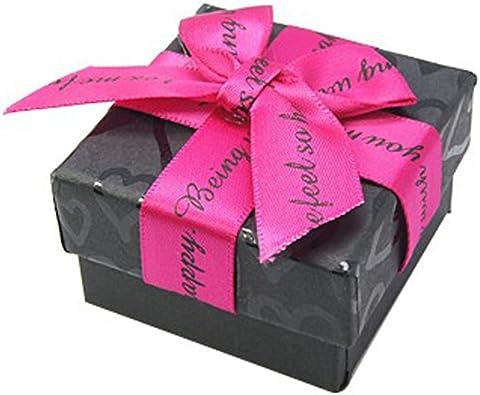 Caja joyas caja de regalo, diseño de corazones, color negro sobre ...