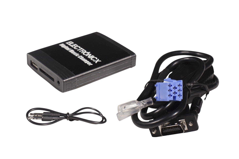 Interface Adaptateur autoradio MP3 USB SD AUX pour modè les de voitures Peugeot  RD3 106 206 CC 307 SW 406 407 SW 607 806 807 et Citroen C3 C5 C8 Xsara Electronicx
