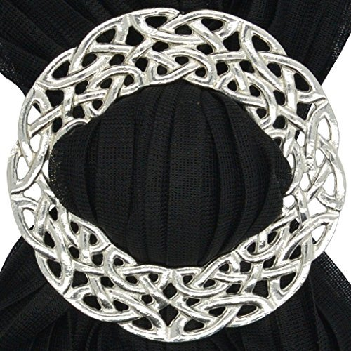 Luxury Fine Pewter Deep Celtic Braid Scarf Ring, Handcast by William Sturt by William Sturt Fine Pewter (Image #2)