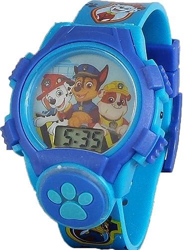Nickelodeon Paw Patrol - Reloj Digital para niño con Esfera y Icono: Amazon.es: Relojes