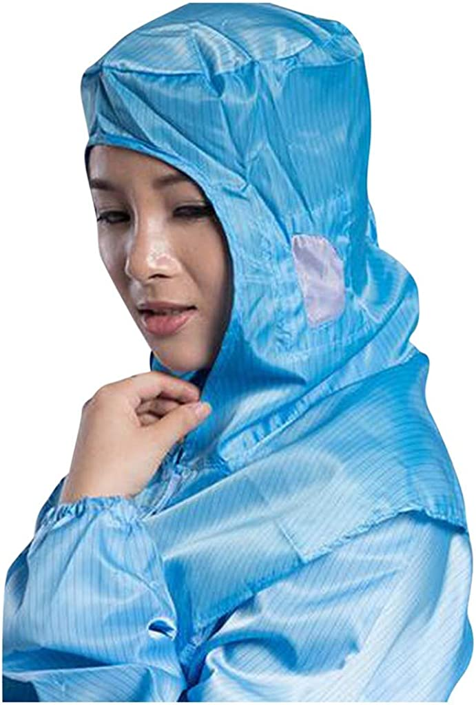 CocoMarket Protective Hat Unisex Outdoor Indoor Work Shawl Hat Adjustable Apron Work Sleeves Recyclable Gloves Blue